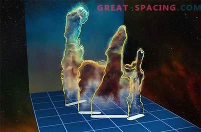 Fantastische 3D-Perspektive der Säulen der Schöpfung