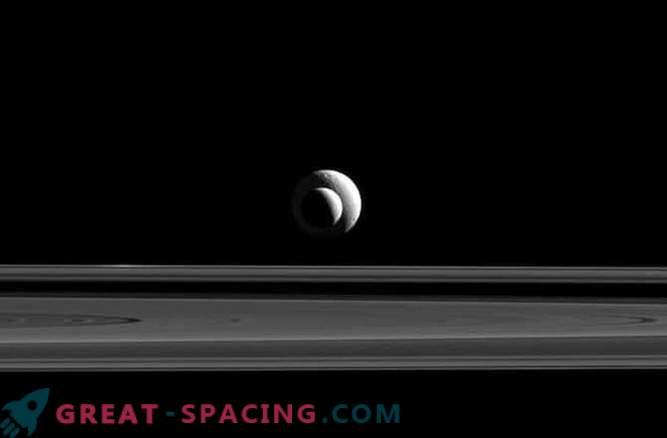 Совршената положба на сателитите на Сатурн