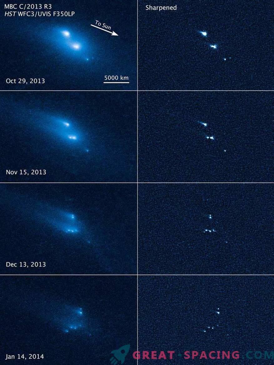 Хабл беше сведок на мистериозниот колапс на астероид